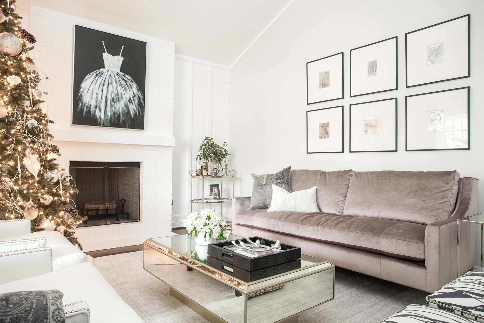 Glam La Canada Living Room - Peltier Interiors